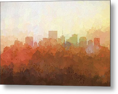 Metal Print featuring the digital art Richmond Virginia Skyline by Marlene Watson