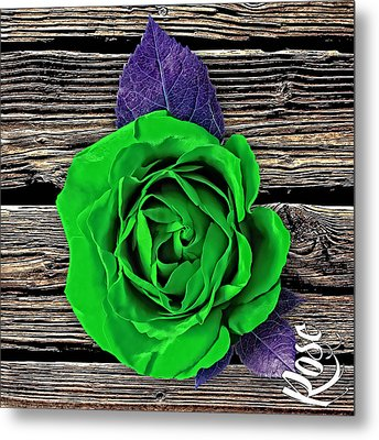 Rose Wood Collection Metal Print