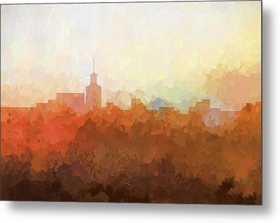 Metal Print featuring the digital art Santa Fe New Mexico Skyline by Marlene Watson