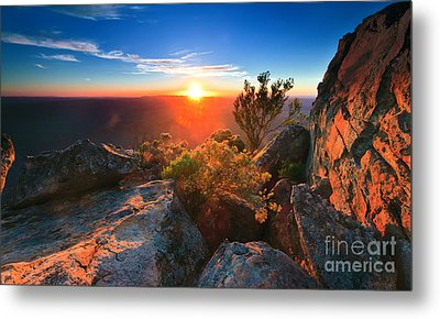 Metal Print featuring the photograph St Mary Peak Sunrise by Bill  Robinson