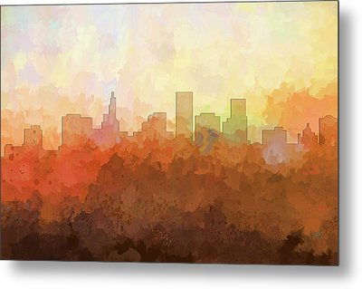 Metal Print featuring the digital art St Paul Minnesota Skyline by Marlene Watson