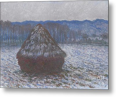 Stack Of Wheat Metal Print by Claude Monet