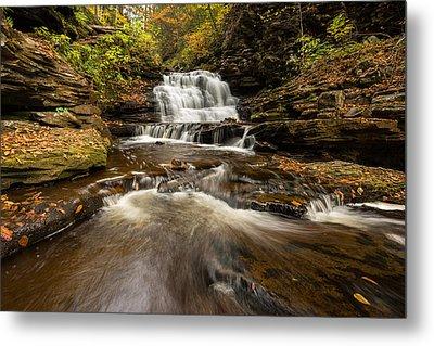 Ricketts Glen State Park Pennsylvania Metal Print by Rick Dunnuck