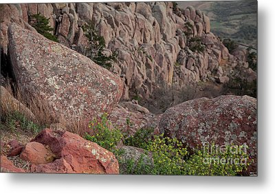Metal Print featuring the photograph Wichita Mountains by Iris Greenwell