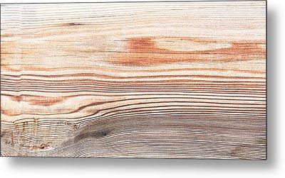Wood Texture Metal Print by Tom Gowanlock