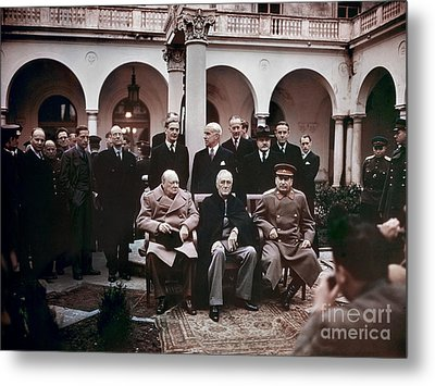 Yalta Conference, 1945 Metal Print by Granger