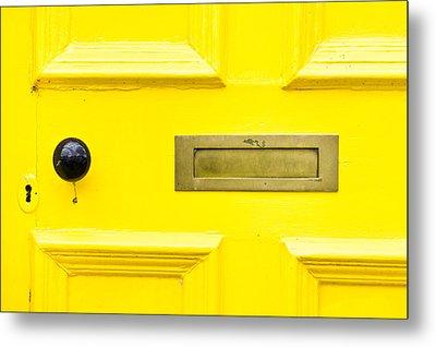Yellow Door Metal Print by Tom Gowanlock