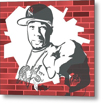 50 Cent Graffiti Tribute Metal Print by Dan Sproul