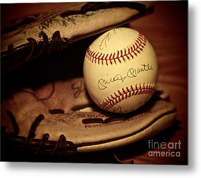 50 Home Run Baseball Metal Print by Mark Miller