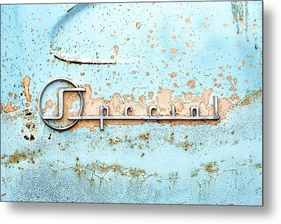 50s Buick Special Nameplate Metal Print by Jim Hughes