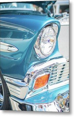 50s Chevy Chrome Metal Print by Mike Reid