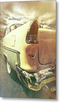 55 Bel Air Taillight Metal Print by Mike Burgquist