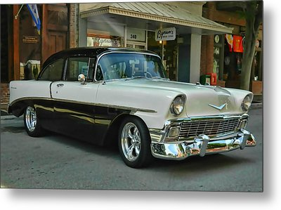 '56 Chevy Hot Rod Metal Print by Victor Montgomery