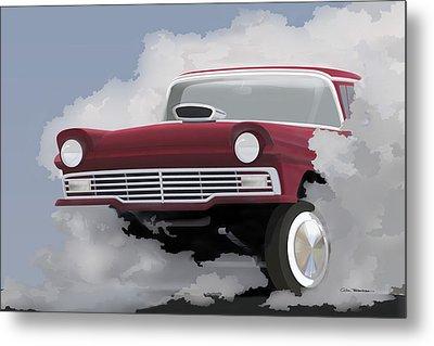 57 Ford Gasser Metal Print by Colin Tresadern