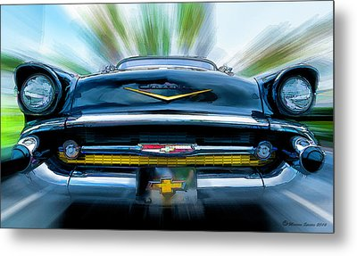 57' In Yo Face Metal Print by Marvin Spates
