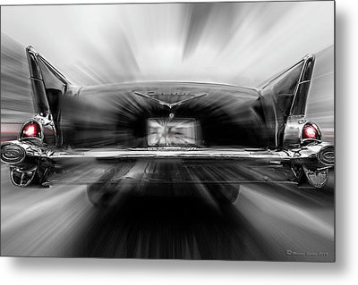 57' Taillights Metal Print by Marvin Spates
