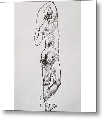 Figure Metal Print
