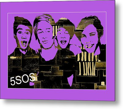 5sos Collection Metal Print by Marvin Blaine
