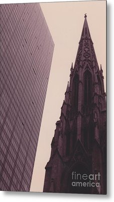 5th Avenue Nyc Old And New Metal Print