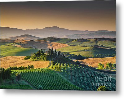 A Morning In Tuscany Metal Print by JR Photography