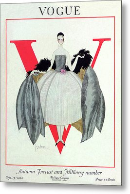A Vogue Magazine Cover Of A Woman Metal Print