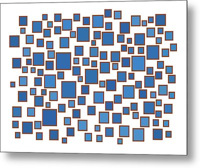 Blue Abstract Metal Print by Frank Tschakert
