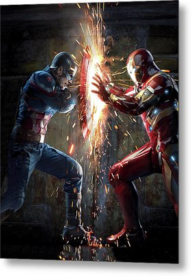 Captain America Civil War 2016 Metal Print