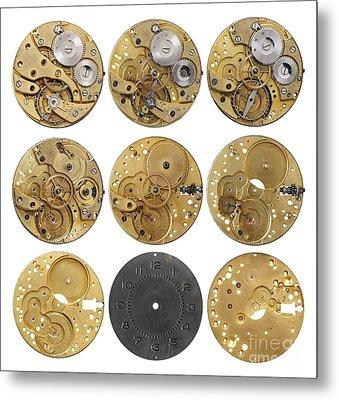 Clockwork Mechanism Metal Print by Michal Boubin