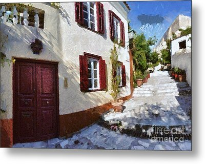Colorful House In Plaka Metal Print by George Atsametakis
