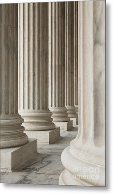 Columns Of The Supreme Court Metal Print by Roberto Westbrook