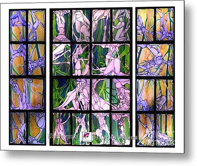 Metal Print featuring the painting 6 Degrees Of Separation by Carol Rashawnna Williams