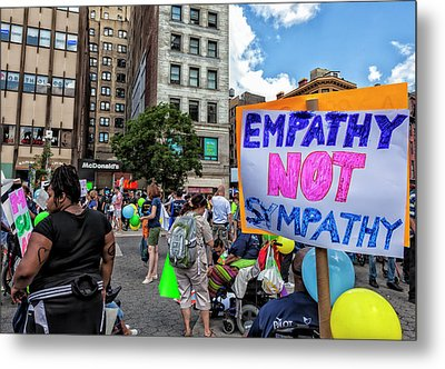 Disability Pride Parade Nyc 2016  Metal Print by Robert Ullmann