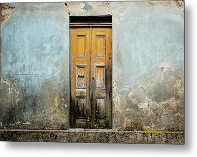 Metal Print featuring the photograph Door With No Number by Marco Oliveira