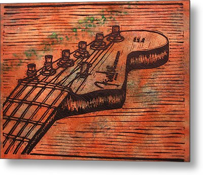Fender Strat Metal Print by William Cauthern