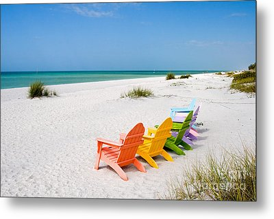 Florida Sanibel Island Summer Vacation Beach Metal Print by ELITE IMAGE photography By Chad McDermott