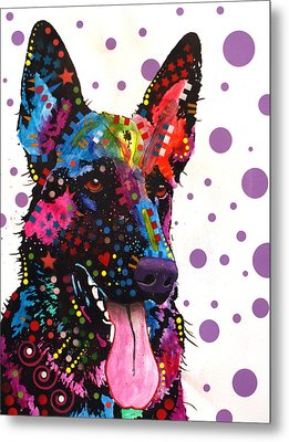 German Shepherd Metal Print by Dean Russo