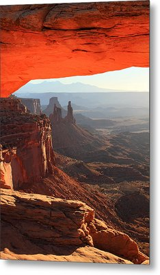 Mesa Arch Sunrise In Canyonlands National Park Metal Print by Pierre Leclerc Photography