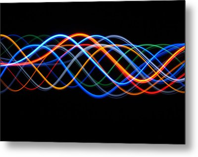 Moving Lights, Abstract Image Metal Print by Lawrence Lawry