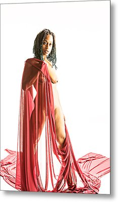 Neemah African American Nude Girl Photograph In Sexy Sensual Col Metal Print by Kendree Miller