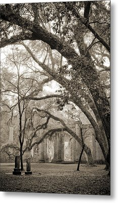 Old Sheldon Church Ruins Metal Print by Dustin K Ryan