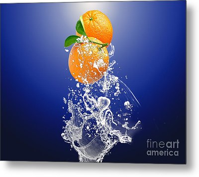 Orange Splash Metal Print by Marvin Blaine