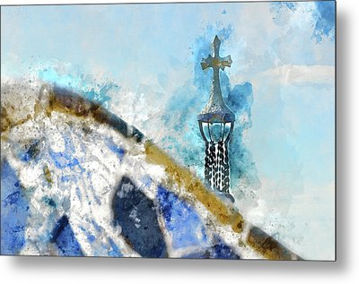 Parc Guell In Barcelona Spain Metal Print by Brandon Bourdages