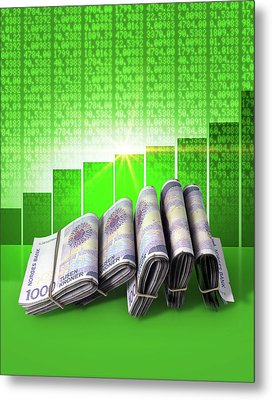 Positive Market Money Metal Print by Allan Swart