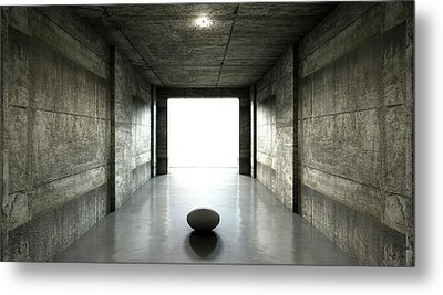 Rugby Ball Sports Stadium Tunnel Metal Print by Allan Swart