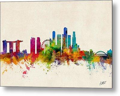 Singapore Skyline Metal Print by Michael Tompsett