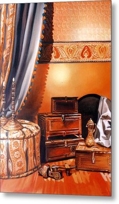 Metal Print featuring the painting Still Life by Chonkhet Phanwichien