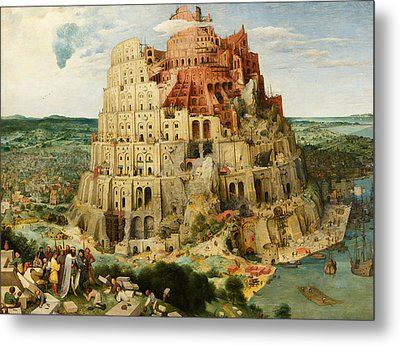 The Tower Of Babel  Metal Print