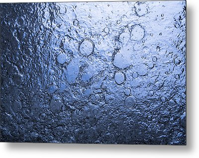 Water Abstraction - Blue Metal Print by Alex Potemkin