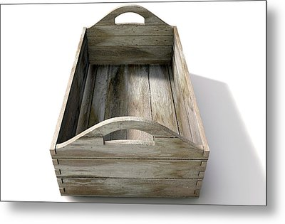 Wooden Carry Crate Metal Print