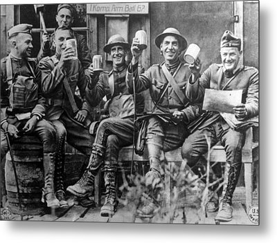World War I, American Soldiers Metal Print by Everett